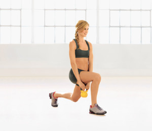 kettlebell lunge & press [self.com]