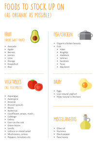 Foods to stock up on